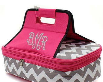 Personalized casserole carrier, monogrammed casserole carrier, tail gate insulated carrier, insulated picnic tote, potluck carrier