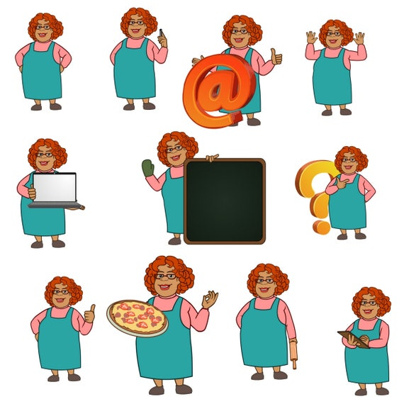 mary aunt clipart chef clipart baking clipart character clipart rh etsystudio com aunt clipart ant clipart