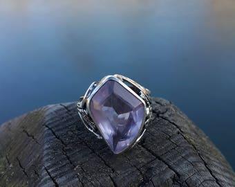 Amethyst Ring Handmade & Silver
