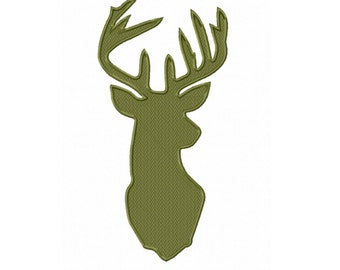 Buck Head...Instant Download...Pattern Fill Machine Embroidery DESIGN NO. 734