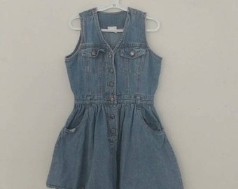 sale: VINTAGE KIDS - Cutie 90s denim jumper
