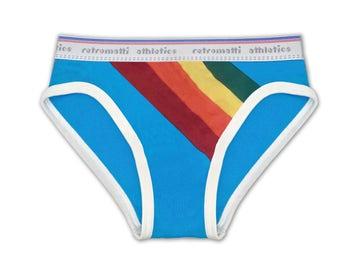 Rainbow Underwear low rise briefs 70s 80s gay lgbt trans vintage underwear, fun mens underwear, geek underwear, unique