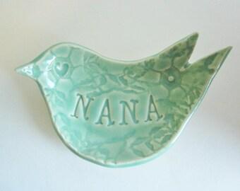 Mother's day gift, Gift for Nana, Nona, Oma, Nema, Gram, ring holder, ring dish, dove ring dish