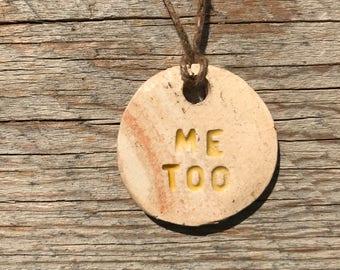 Me Too Ceramic Pendant Necklace (Yellow)