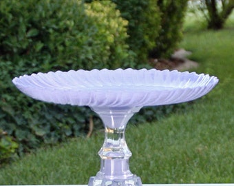 Lavender Cake Stand -Cupcake Stand Shabby Chic Vintage Reclaimed  Serving Platter