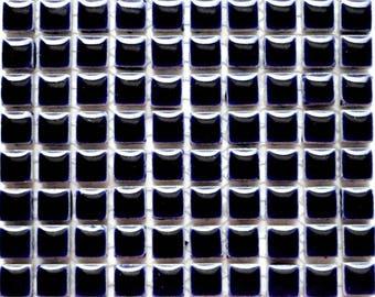 100 (10mm) MINI Indigo Cobalt Blue Glazed Ceramic Tiles Mosaic Supplies//Mosaic Pieces//Crafts