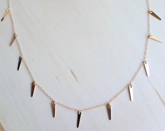 Full Shaker Spike Necklace