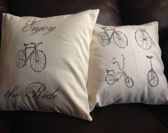 Enjoy the Ride Pillow Covers