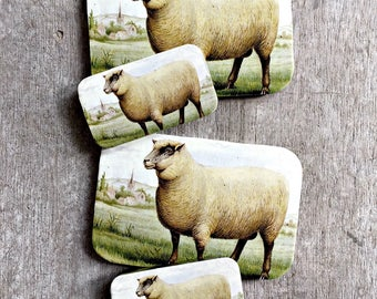 Sheep tin SMALL, Notions tin, treasure box, jewellery box