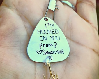 Fishing Lure, Prom, Will You Go To Prom?, Boyfriend Gift, Father's Day Gift, Personalized Fishing Lure, Fishing, natashaal