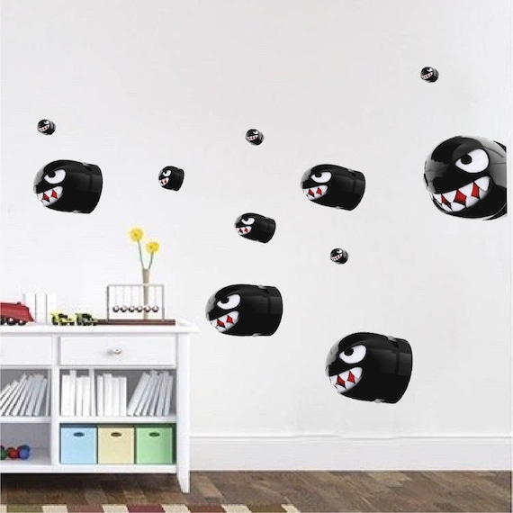 & Mario Bullets Wall Decal Mural Super Mario Villain Nintendo