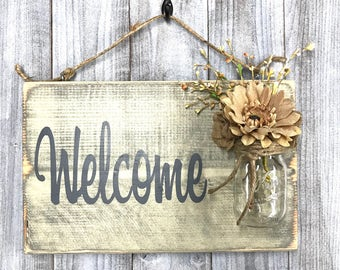 Welcome sign for front door of a business, Outdoor Signs for house and home, Wedding Welcome Sign, Mothers Day gift house sign, Welcome Home