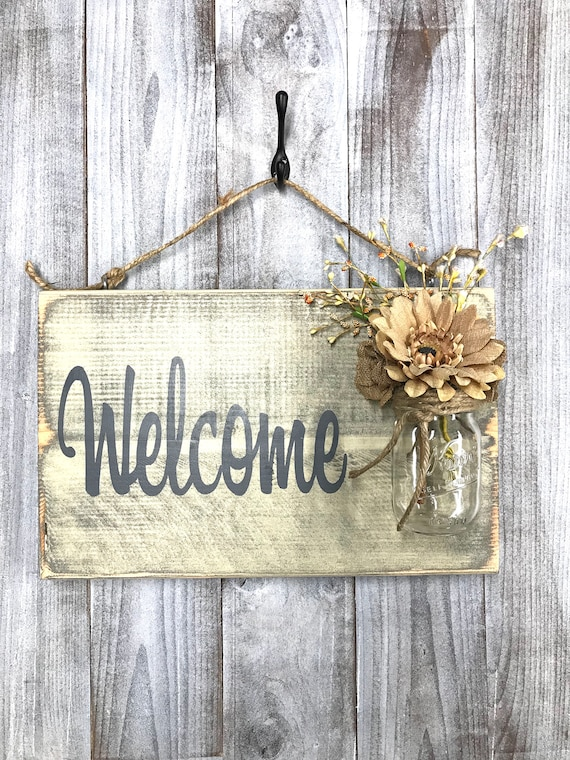 Welcome sign for front door of a business Outdoor Signs for