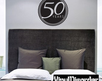 50 years Celebrations - Vinyl Wall Decal - Wall Quotes - Vinyl Sticker - Ce03350YrsviiiET