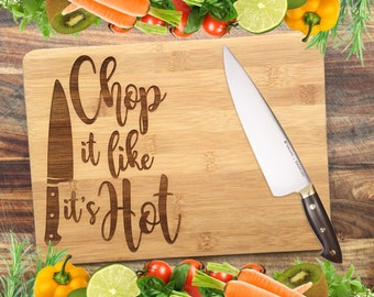 Chop It Like It's HOT! - Personalised Engraved Bamboo Chopping Board