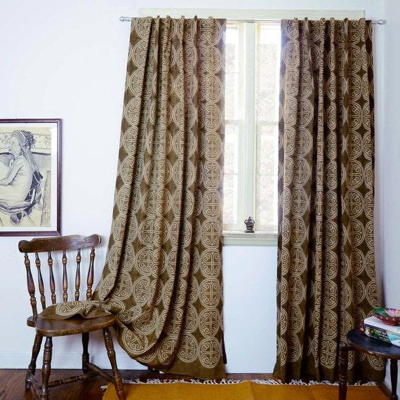 Curtains Brown Bohemian Curtains Window Curtain Boho Home