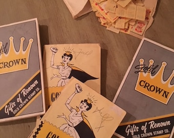 Gold Crown Saving Stamp Redemption Books and Stamps