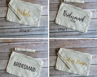 Bridal Party Personalized Wristlet