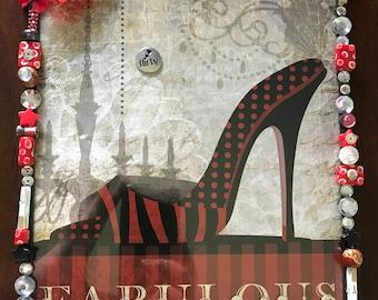 Fabulous shoe wall art