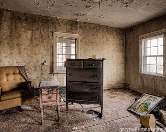 Life Long Gone - Abandoned House, Memories -  Photography Print, Old Window, Forgotten Places Fine Art Photograph, Signed.