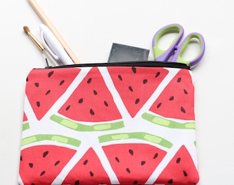 Watermelon zippered pouch / clutch / pencil case