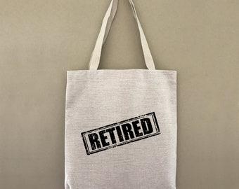 Tote Bag Retired Stamp Custom Customizable Personalized Gift For Her Gift For Him Retirement Farmers Market Shopping Bag Bulk