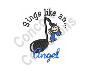 Sings Like An Angel - Machine Embroidery Design