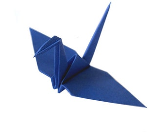 Origami Birds   50 count in Deep Blue