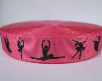 "5 yards of 7/8 inch ""Ballet"" grosgrain ribbon"