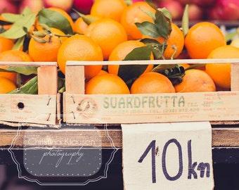 Kitchen Art. Photo of Oranges. Fresh Oranges. Farmers Market. Orange. Food Photography. Kitchen Decor. Fresh. Fine Art Photography