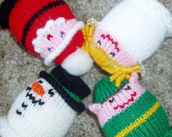 Christmas Egglets (Set of 4 - 1 Santa, 1 Elf, 1 Snowman, and 1 Angel)  Need a different grouping - just contact us.
