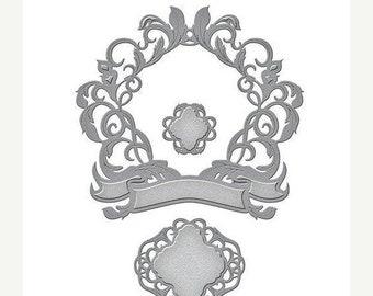 Mothers Day Special: Spellbinders Shapeabilities Die D-Lites - Royale Flourish  S5-278