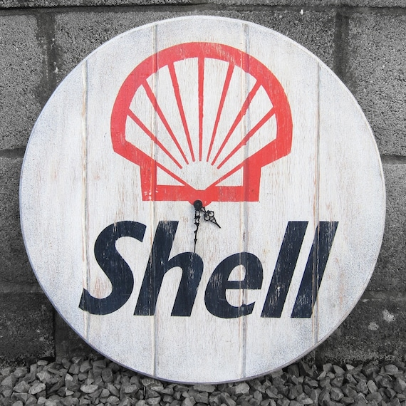 Vintage Shell Petrol Gas Wall Clock