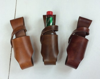 Leather Hot Sauce Holster 5oz