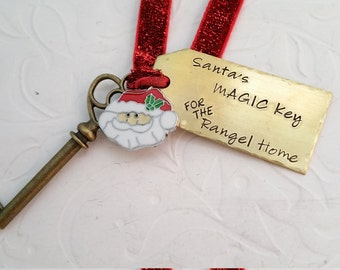 Magic Santa Key, Special Personalized House Key for Santa, Christmas