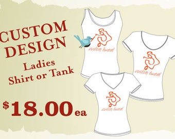 Custom Design T-Shirt // Custom printed T-shirt //  Custom tshirt // Custom Tank