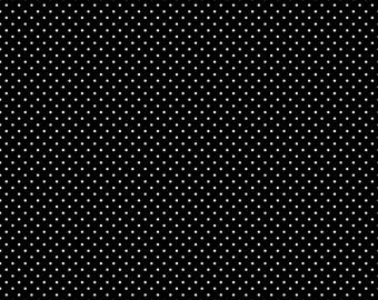Black and White Polka Dot Fabric - Riley Blake Swiss Dot Fabric - Black Polka Dot Fabric - By The 1/2 Yard