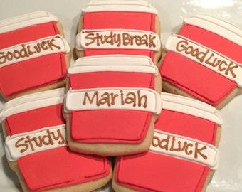 Study break Cookies, college student coffee