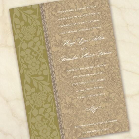 wedding invitations, olive wedding invitations, avocado wedding invitations, floral wedding invitations, avocado bridal shower invitations