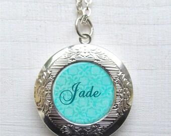 Personalized Locket Necklace, Name Necklace, Customized Photo Locket