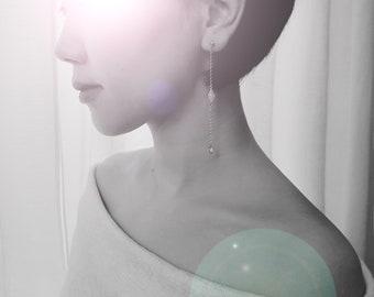 dia - Bridal Earrings, Dainty Earrings, Everyday Jewelry, Long Earrings, Bridesmaid Earrings, Dangle Earrings