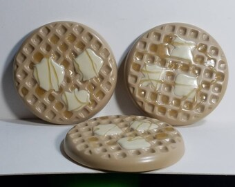 Waffle with Butter and Syrup Disc Golf Mini Marker