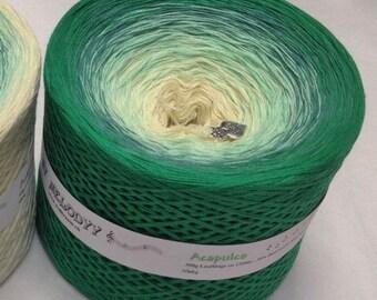 Acapulco - Caribbean Green Yarn - Gradient Yarn - Cotton Acrylic Blend - Color Changing Yarn - Ombre Yarn - MelodyyByWolltraum - Green Yarn
