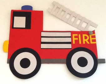 Fire Engine Craft, Paper Puzzle, Mindfulness Kit, Birthday Craft Gift for Toddler, Quiet Time Activity, Busy Book Craft, Montessori Toddler