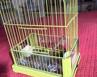 Vintage  Bird Cage Birdcage deco  Antique Bird Cage Hendrix ? metal