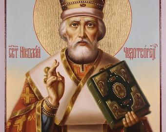 Orthodox icon of Saint Nicholas, Russian Orthodox icon, religios art