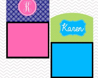 Gift Ideas for Co-workers Sticky Note Holder Office Accessories Monogrammed Personalized Desk Co-Worker Gift Chevron Good Bye Gift Moving