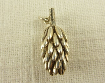 Vintage Sterling Open Pine Cone Charm