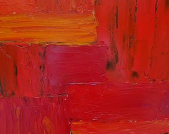 Shades of Red, abstract art oil painting