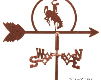Mini U of Wyoming Cowboys Cowgirls  Flower Pot Weathervane ~NEW~